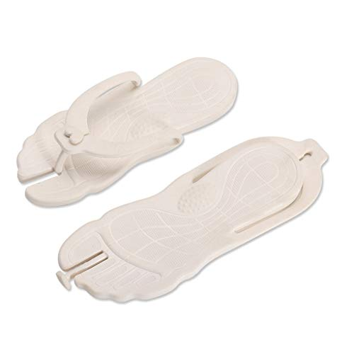 MRULIC Mode Unisex Sommer Strand Flip Flops Strand Anti-Slip Freizeitschuhe Hausschuhe Schuhe Freizeitschuhe(Weiß,42-43 EU)