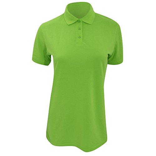 Polo à manches courtes Kustom Kit Klassic Superwash pour femme Vert citron