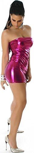 Jela London -  Vestito  - fasciante - Basic - Senza maniche  - Donna Pink