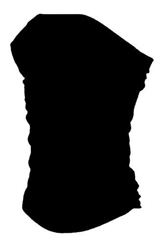 janisramone donne boobtube a fascia senza spalline gilet reggiseno ragazze top corto abito Nero