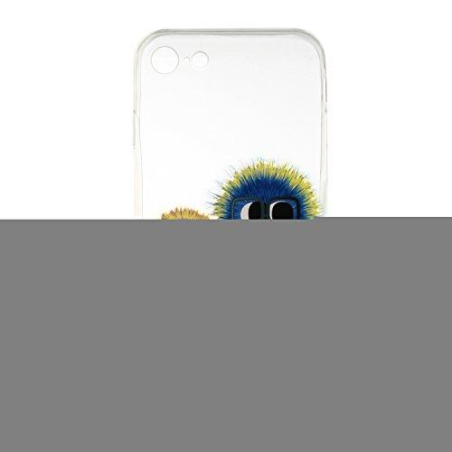 iPhone 7 Silicone Case,iPhone 7 Coque - Felfy Coque Souple Transparente Gel TPU Soft Silicone Case Motif Design Premium Ultra-Light Ultra-Mince Skin de Protection Anti-Choc Bumper Housse Case Etui pou Drôle Balle