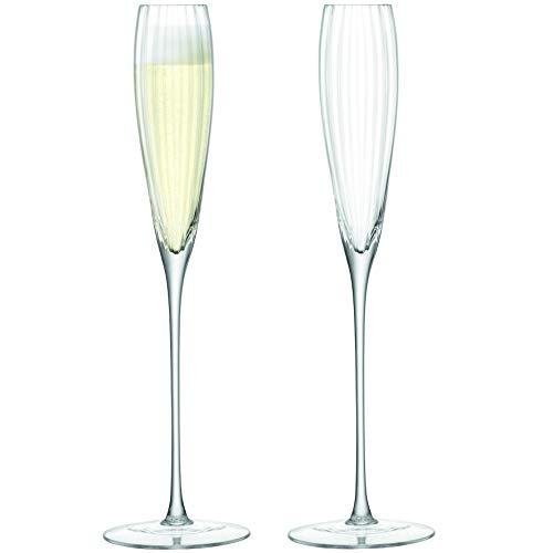 LSA International Aurelia Grand Champagner Flöte 165ml klar Optik X 2, Set von 2 Grande Champagne Flute