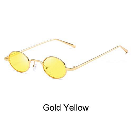 ZHOUYF Sonnenbrille Fahrerbrille Runde Brille Frauen Schmale Sonnenbrille Frau Luxus Marke Kleine Ovale Sonnenbrille Weibliche Brillen Lunette Oculo, D