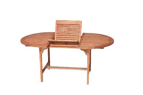 Ausziehbarer Holz Gartentisch thumbnail