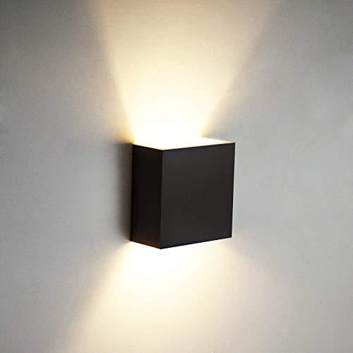 6W LED Wandleuchten Aluminium Waterproof Wall Lamp Innen 85-265 V 3000K für Wohnzimmer, Schlafzimmer, Bad, Flur, Balkon, Treppen, Pfad, Terrasse (Warmweiß) [Energy Class A++]Kreative minimalistische
