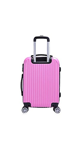 ELECTROPRIME Stylish 20 Inch Solid Color Striped Spinner Luggage Trolley Case