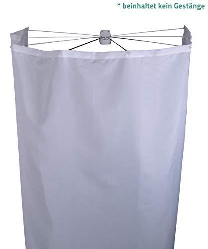 RIDDER Ersatz-Duschvorhang Textil Ombrella weiß 210x180 cm