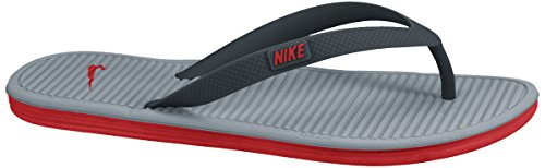 Nike Solarsoft Thong 2, Scarpe Sportive Uomo Bianco / Rosso / Grigio (Clssc Charcl / Chllng Rd-Dv Gry)