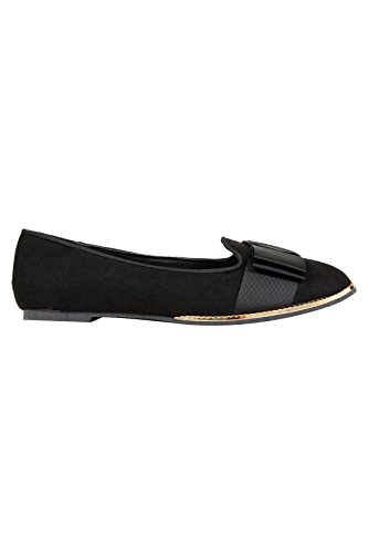 Yours Clothing, Ballerine donna Black