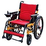Rodillo auxiliar de aleación de aluminio para silla de ruedas eléctrica, fiable, no es fácil de deslizar, interruptor.