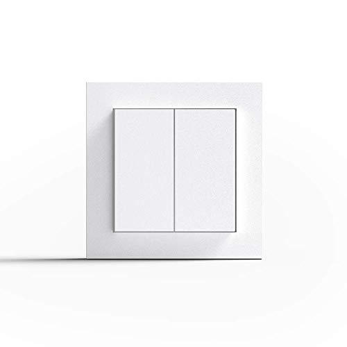 Friends of Hue Smart Switch: Kabelloser Philips Hue Schalter und Dimmer (Keine Batterien, Kein Aufladen, Exklusiv für Philips Hue Lichter), Weiß Matt -