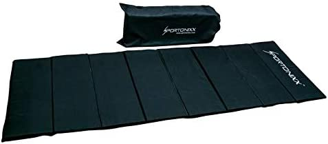 "Sportonixx Yoga Mat High Destiny Foldable 72"" x 24""x 12 mm, for Men & Women (Black) with Cool Bag Cover"