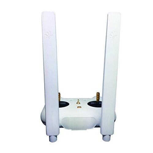 Fami-Antenna Refitting Signal Booster 8DB Omnidirezionale 7DB Orientamento Refit Antenna 5 km Distanza per XiaoMi 4K Drone (Bianca)