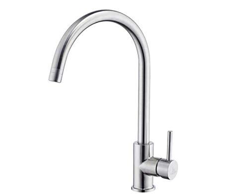Küche Bad Wasserhahnwasserhahn Mischer-Schwenker-Hahn-Wannen-Küchen-Hahn Kalt Und Heiß 304 Edelstahl-Geschirrspülmittel