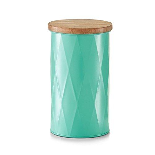 Vorratsdose 'mint rund' 1600 ml mit Deckel Holz Bamboo Universaldose Aufbewahrungsdose Dose