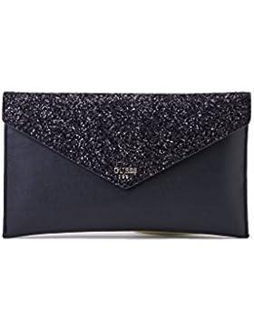 Guess Borsa Pochette Ever After Envelope Clutch Larg 30 h 18, Colore Nero,VF686228/BLACK, Nuova Collezione Primavera...