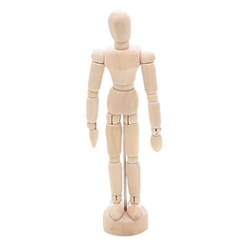 Modellpuppe aus Holz, Unisex, Gliederpuppen, Holzpuppe, Biegepuppe, Mannequin, Hand High Joint-Modell, Ideal für Zeichnen oder Desktop Decor VNEIRW (A)