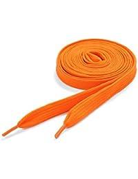 Cordones de Zapatos Estándard Color Naranja Néon de Underground Kulture 120cm x 11mm (Flat Orange)
