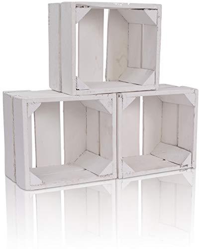Holzkiste Große Kiste mit Printaufdruck