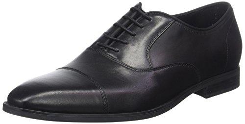 Geox U New Life E, Zapatos de Cordones Oxford para Hombre, Negro (Black), 42 EU