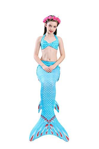 SPEEDEVE Coda di Sirena della Ragazza con Pinne per Nuotare,DH74,120