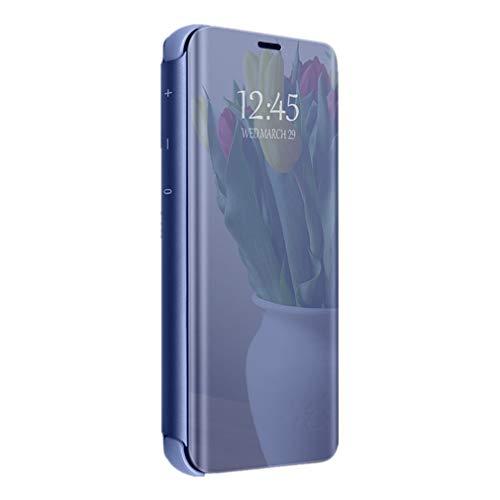 Hülle für Samsung Galaxy A20E Handyhüllen Flip Handy Case Cover mit Standfunktion Business Serie Hülle Hart Case Cover Faltbare Standfunktion Bumper Stoßfeste Schutzhülle für Galaxy A20E (Blau)