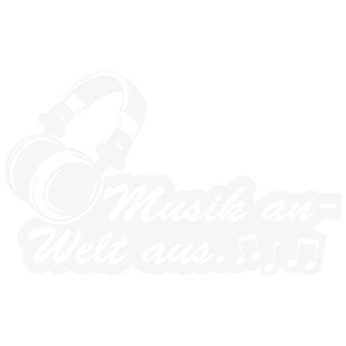 """Wandkings Wandtattoo """"Kopfhörer, Musik an - Welt aus"""" 50 x 30 cm weiß - erhältlich in 33 Farben"""