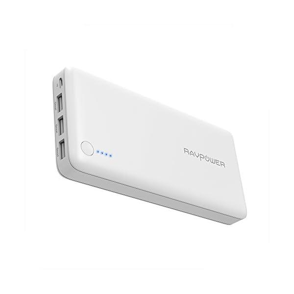 RAVPower Caricatore Portatile da 26800mAh con 3 Porte USB e Un Output Totale da 5.5A (Input da 2A, Tecnologia iSmart 2.0… 1 spesavip
