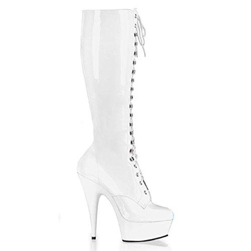 Stiefel Lack weiss Weiß