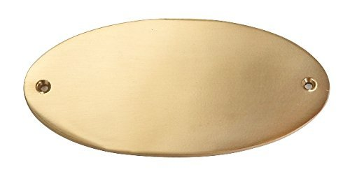 EDEL DESIGN OVAL GROSS MASSIV MESSING TÜRSCHILD 13,5 x 0,5 x 6,5 cm inkl. wunsch Gravur