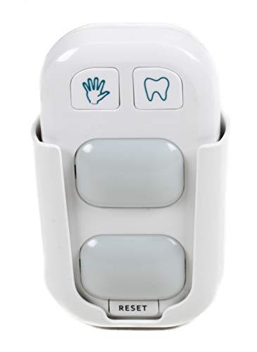 Grundig. Händewasch und Zähn-Putz-Assistent, Timer, 2 LED-Leuchten, Rest-Taste, Wandhalterung, Batteriebetrieb, ca. 10,5 cm, weiß
