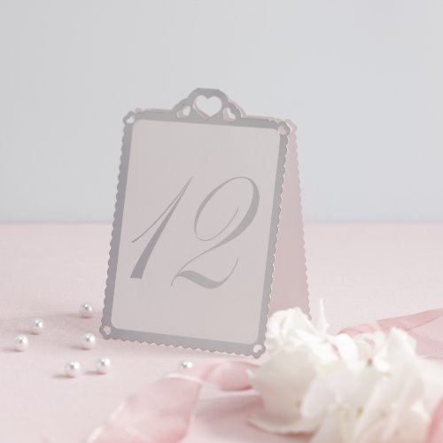 ginger ray silver heart table tent numbers 112 u2013 great for a wedding or party event