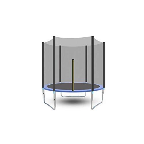 KEWEI Blumenständer-Trampolin hat die Sicherheitsabdeckung-Test bestanden mit Sicherheitsnetz, rundes Gartentrampolin mit Leiter und gepolsterter Stange, 306 cm, Blau