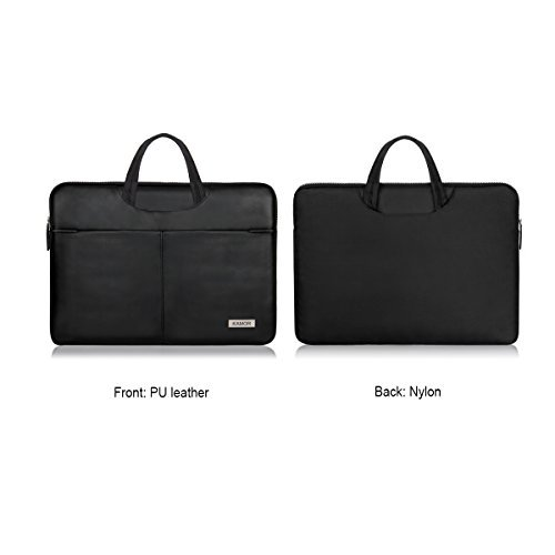 Kamor® 15 15.4 zoll MacBook Pro 15 hülle leder tasche case sleeve Water-resistant PU-Leder notebooktasche laptoptasche - Ultra slim lightweight superior protection Laptop Sleeve Case Bag(Schwarz)