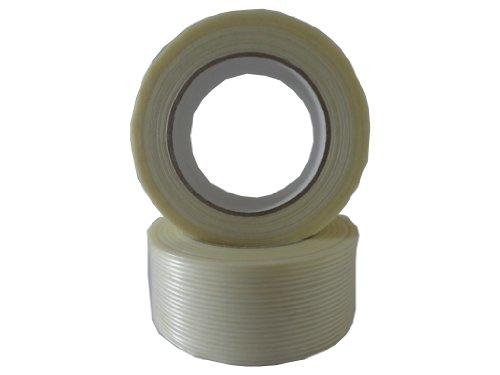 Preisvergleich Produktbild 10x Filamentband Filament Klebeband Packband 50m X 50mm fadenverstärkt