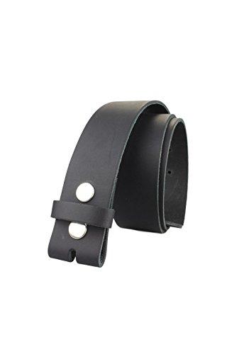 Echt Leder Wechselgürtel | Gürtel für Gürtelschnalle / Buckle in schwarz | Bundweite 110 - 2