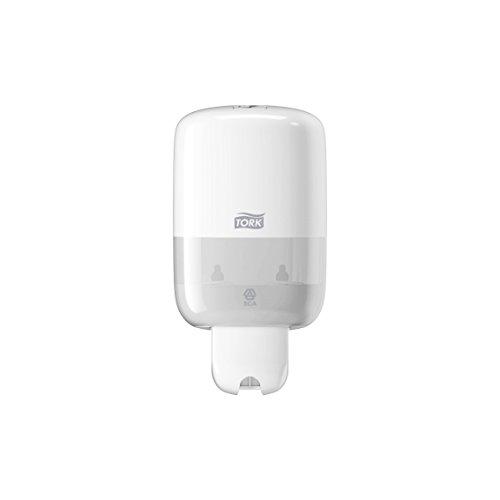 Tork 561000 Mini Spender für Flüssigseife S2 / Weißer Seifenspender in modernem Elevation Design (Hand-seifenspender Nachfüllen)
