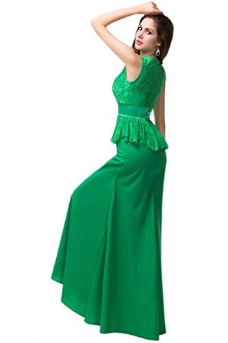 Sunvary-Custodia sottile con cerniera, increspata sera, abiti da sera, con fascia Verde