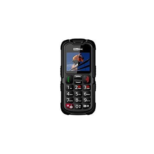 Maxcom MM 910-s - M  vil de 2   Dual SIM  c  mara VGA  resistente al polvo y agua  radio FM  color negro