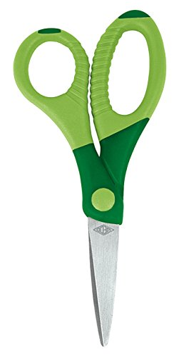 Wedo 773504 Bastelschere (Gripy 5 Zoll spitz, aus rostfreiem Edelstahl) grün