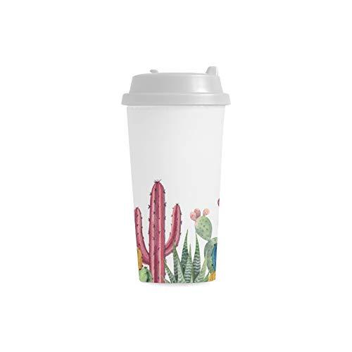 Schönheits Gewohnheits 16 Unze doppelwandiger Plastikisolierte Sport Wasser Flaschen Becher Pendler Reise Kaffeetassen für Studenten Frauen Milch Teetasse Getränk ()