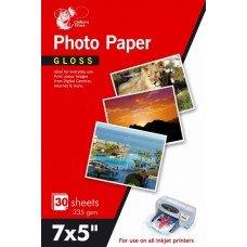 60feuilles papier photo brillant 17,8x 12,7cm 235g/m²/Lot de 2paquets de