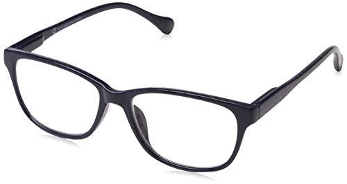 UV Reader Marineblau Leicht Kurzsichtigkeit Entfernung Brille Designer Stil Herren Frauen Mit Etui UVMR027 Dioptrien -2,50 (Kontaktlinsen Designer,)