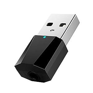 Solustre Bluetooth Usb Adapter Kunststoff Prime 3 5Mm Aux Signal Empfänger Usb Audio Empfänger für Telefonieren Musik Auto Pc (Schwarz)