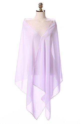Auxico Chiffon Stola Schal für Kleider in verschiedenen Farben perfekt zu jedem Brautkleid...