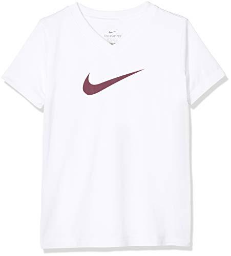 Nike Mädchen Dri-Fit T-Shirt, White, XS (Besser T-shirt Mädchen)