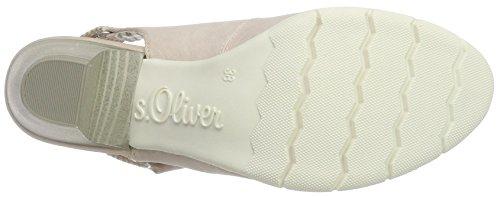 s.Oliver 29501, Scarpe Col Tacco con Cinturino a T Donna Rosa (ROSE 544)