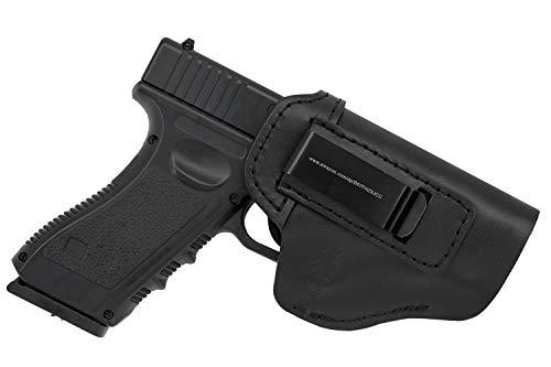 MAYMOC Der Defender IWB Leder für S & W M & P Shield - Glock 17 19 22 23 32 33 / Springfield XD & XDS/Plus Alle Handfeuerwaffen gleicher Größe (Recht) (Holster Xd 45)