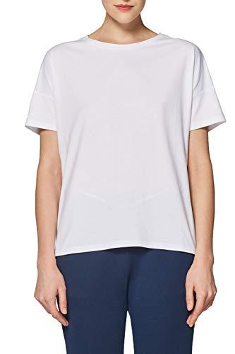 ESPRIT Sports Damen Tshirt sl Sporttop, Weiß (White 100), 36 (Herstellergröße: S)