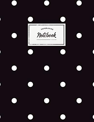 Notebook: Beautiful black polkadot design ★ Personal notes ★ Daily diary ★ Office supplies |  8.5 x 11 - big  notebook | 150 pages | College ruled (Scandinavian collection, Band 30) (Korb Polka Dot)